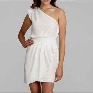 NWT Bcbgeneration white one shoulder dress